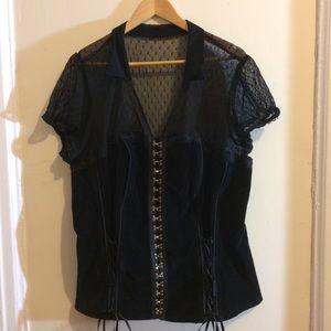 Women's plus size Corset by Tripp NYC black lace